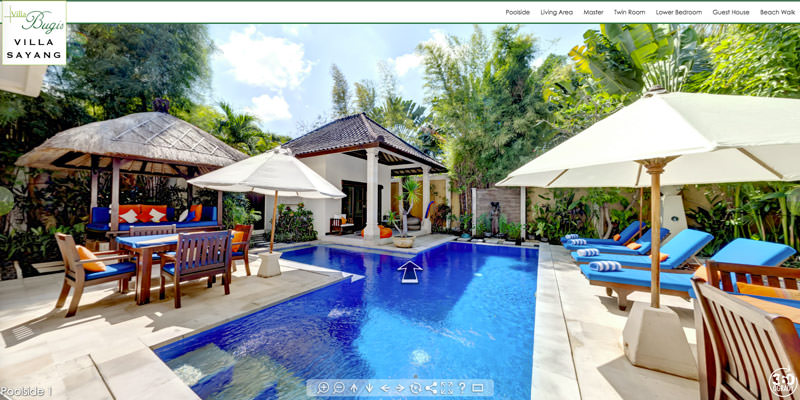 Virtual Tour for Villa Sayang in Seminyak, Bali